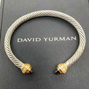 David Yurman 925 18 Amethyst 5mm Bangle M Size